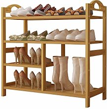 PLLP Bamboo Shoe Rack Door Shoe Economy Simple