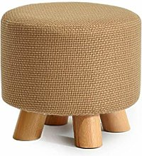 PLLP Bed End Stool,Solid Wood Shoes Stool Round