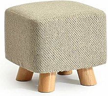 PLLP Bed End Stool,Solid Wood Shoes Stool Square