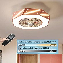 PLLP Bedroom Dining Room Ceiling Fan Lighting Fan