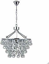 PLLP Ceiling Crystal Chandelier, Round Transparent