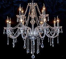 PLLP Chandelier Lighting with 8 Crystal Lights,