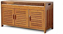 PLLP European Shoe Bench Shoe Storage Nan Bamboo