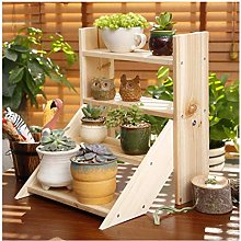PLLP Home Balcony Plant Stand,Flower Stand Desk