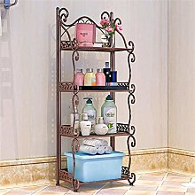 PLLP Iron Bathroom Shelf Toilet Bathroom Storage