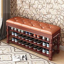 PLLP Multi-Layer Solid Wood Shoe Rack Simple Home