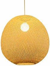 PLLP Pendant Lighting with Handmade, DIY Wicker