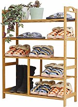 PLLP Shoe Rack Solid Wood Multi-Layer Shoe Rack