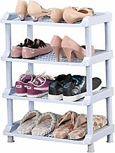 PLLP Simple Shoe Rack Green Plastic Storage Rack