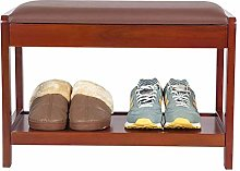 PLLP Simple Shoe Rack Shoe Cabinet Solid Wood