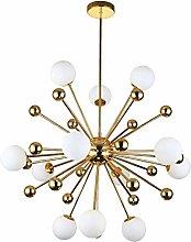 PLLP Sputnik Glass Chandelier Lighting 12