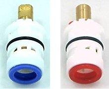 Plug in/push fit Plastic replacement ceramic disc