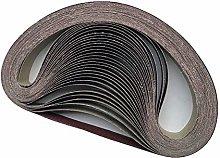 PLUIEX Sand Belt 10pcs 50x1220mm A/O Abrasive