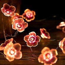 Plum Flower String Lights,KINGCOO 10FT 30LED Pink