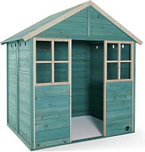 Plum Garden Hut Wooden Playhouse - Teal