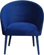 Plum Tub Chair Happy Barok Upholstery Colour: Navy