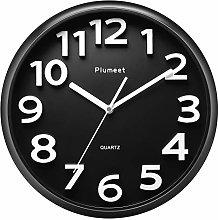 Plumeet 10'' Small Wall Clock, Non-Ticking