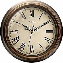 Plumeet Large Retro Wall Clock - 13'' Non