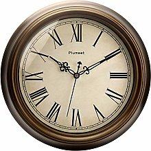 Plumeet Large Retro Wall Clock, 13'' Non