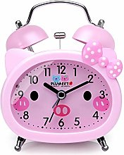 Plumeet Twin Bell Alarm Clock for Kids, Silent