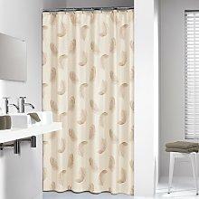 Plumes Shower Curtain Sealskin
