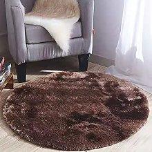 Plush Round Carpet Round Fluffy Area Rug for
