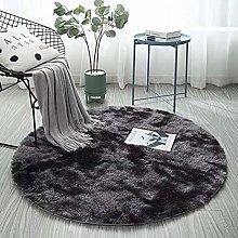 Plush Round Carpets for Living Room Soft Anti Slip