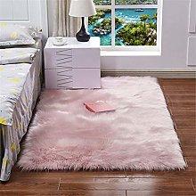 Plush Square Carpet, Soft Door Floor Mat, Non-Slip