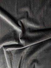 Plush Velvet Fabric Per Meter 140cm Width (Steel,