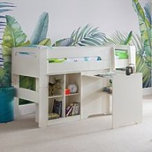 Pluto Bunk Bed With Bookcase And Study Desk In