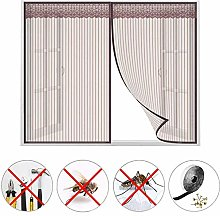 PLYY Magnetic Window Screen, Brown Mosquito