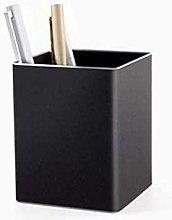 Plztou Aluminum Square Pen Container Desk Pencil