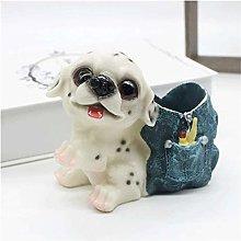 Plztou Pencil pot holder Pen Holder Cute Puppy Pen