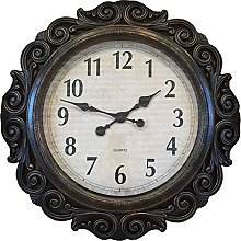 PMS LARGE SCROLLED QUARTZ WALL CLOCK IN OPEN BOX