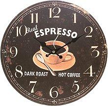 PMS WINE/COFFEE/TEA 34CM KITCHEN WALL CLOCK IN