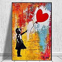 PO-decor wall art Banksy Art Print Canvas Painting