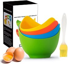 Poached Egg Cooker with Ring Standers, Silicone