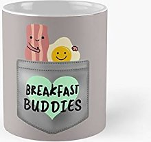 Pocket Bacon and Egg Funny Breakfast Buddies Fun