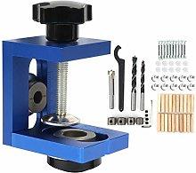 Pocket Hole Jig Kit, Aluminum Alloy Dowel Drill