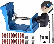 Pocket Hole Jig Kit Dowel Drill Joinery Screw Kit