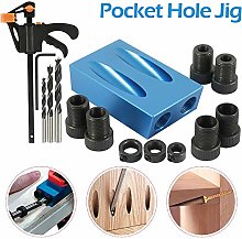 Pocket Hole Screw Jig 14 Pcs Dowel Drill Joinery