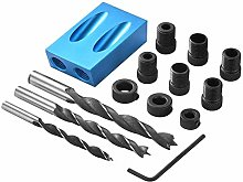Pocket Hole Screw Jig Dowel Drill Joinery Kit