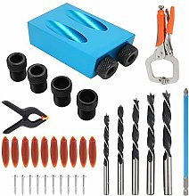 Pocket Hole Screw Jig, Dowel Drill Joinery Kit