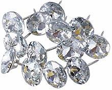 POFET 20pcs 25mm Sew Buttons Diamond Crystal