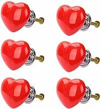 POFET 6pcs Heart-Shaped Dresser Drawer Cabinet