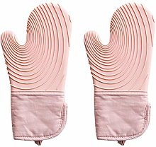 POHOVE 2pcs Silicone Oven Mitts,Heat Resistant Pot