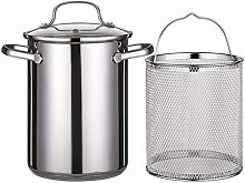 POHOVE 4L Tempura Deep Fryer Pot, Stainless Steel