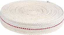 POHOVE 6.5 Feet/1Roll Oil Lamp Wick,Cotton Flat