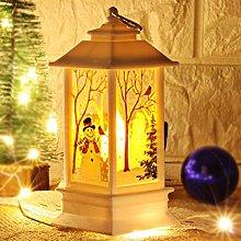 POHOVE Christmas Lanterns Christmas Snow Globe