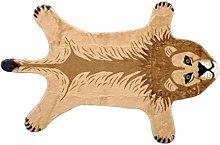POHOVE Leopard/Lions/Tiger Print Rug, Faux Fur